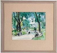 park scene by martha walter