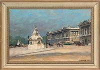 place de la concorde, paris by jules ernest renoux