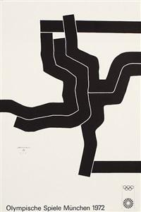 komposition. plakat für die olympiade, münchen by eduardo chillida
