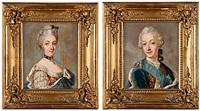 porträtt av sofia magdalena och gustaf iii (pair) by ulrika (ulla frederika) pasch