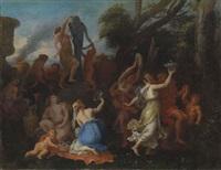 a bacchanal scene by filippo lauri