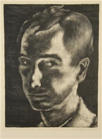 self portrait (+ 2 others, various sizes; 3 works) by george biddle