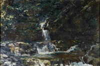 welsh waterfall by roy abell