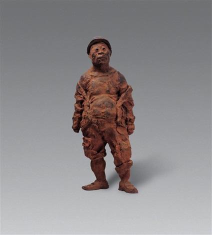 《一个民工》创作稿 铸钢 labourer working draft by liang shuo