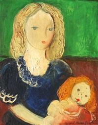 femme et enfant by michel marie poulain