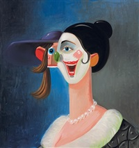smiling harlequin by george condo