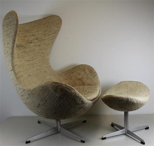 Gentil Arne Jacobsen Egg Chair And Ottoman By Arne Jacobsen