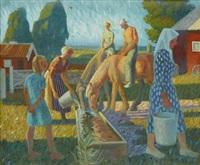hästarna vattnas by gunnar torhamn