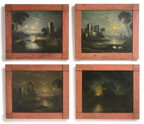 four moonlight scenes 4 works by william matthew prior