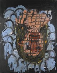 malerkopf wie blumenstrauss ii by georg baselitz