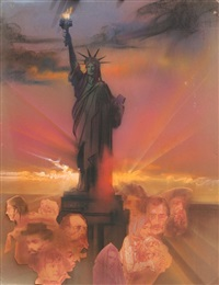 statue of liberty (color) by yamagata