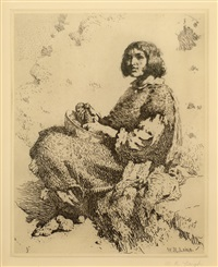 zuni girl by william robinson leigh