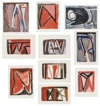 compositions (set of 10) by bram van velde