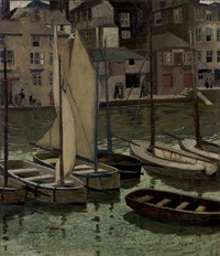 the harbour, st. ives by josephine haswell miller