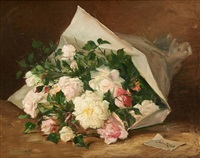 bouquet de fleurs by jules félix ragot