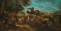 chasse au lion en mésopotamie by fernand cormon