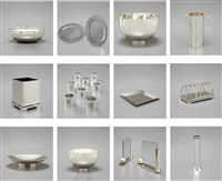 group of twenty-one meier dining accessories (21 works) by richard meier