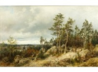 landscape from helsinki by berndt adolf lindholm