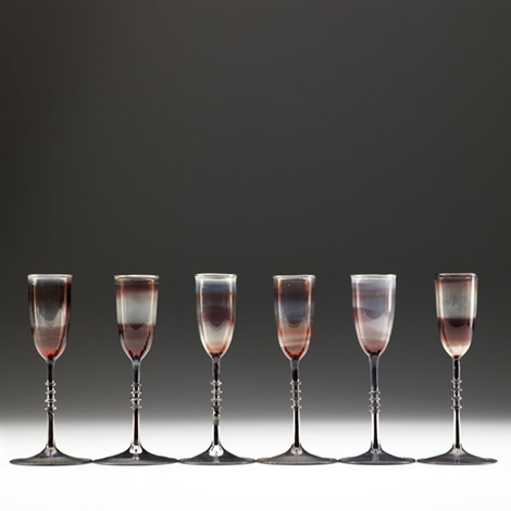 cordial glasses set of 6 by karl g koepping