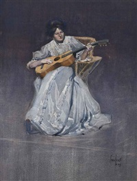 the guitar player by frederick william leist