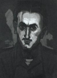 portrait. kop met rode fond by antonius johannes kristians