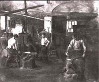hammerschmiede mit drei arbeitern by aloys eckardt