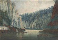 fishermen at the lurley rocks, the rhine by conrad von hoetzendorf