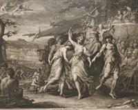 orpheus instructing a savage people (from the progress of human cultures series, + a grecian harvest home; 2 works) by james barry
