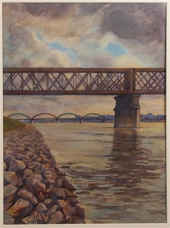 ansicht der nordwestbahnbrücke by paul robert passini