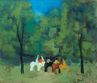 cavalli nel bosco by gianrodolfo d'accardi