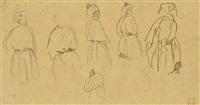 studies of an arab man by eugène delacroix