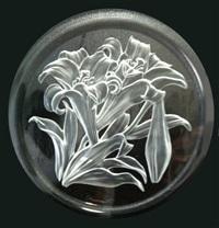 irises plate by t. yamamoto