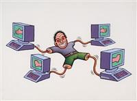 computer geek by dadara