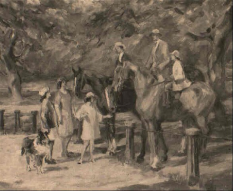 family riding by philip wilson smith