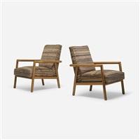 lounge chairs model 1601, pair by t.h. robsjohn-gibbings