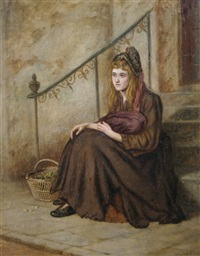 woman on steps by arthur ventnor