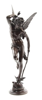 a french bronze figure by jules-felix coutan