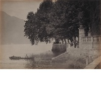 landing place, lake como, villa by karl struss