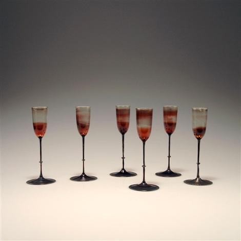 sechs liqueurgläser im etui set of 6 by karl g koepping