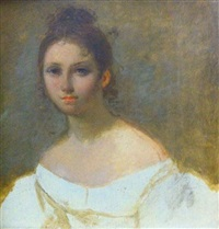 etude de dame de qualité (study) by rodolphe töpffer