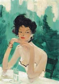 at the bar by jean-gabriel domergue