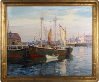 harbor scene by camillo adriani