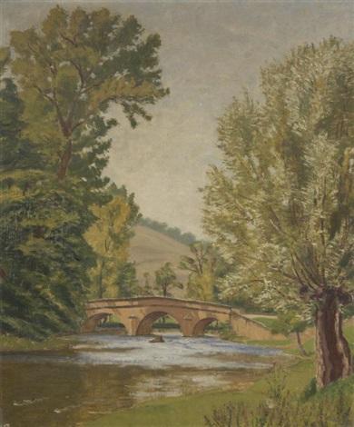 pont sur la rivière by charles lacoste