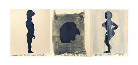 the black man, the jew, and the girl by marlene dumas