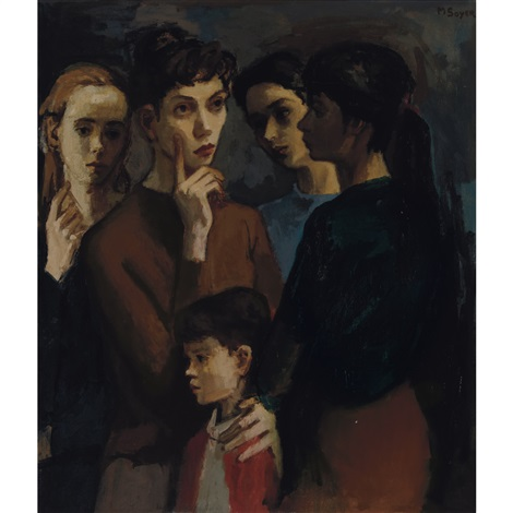 standing women and child by moses soyer