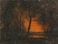 afterglow and reflection by henry hammond ahl