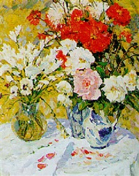 bunches of flowers by vladimir gusev