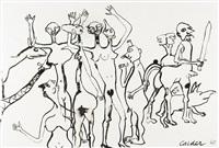 people with centaur by alexander calder