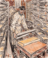 the stearin candle factory by jan toorop