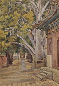 view alongside a chinese temple by mary augusta mullikin